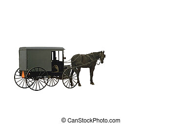 Amish Wagon Object - An isolated Amish Wagon