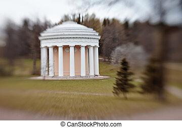 amistad, parque, templo, pavlovsk