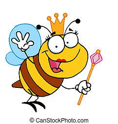 amistoso, abeja de reina