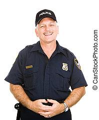 amistoso, oficial de policía
