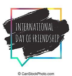 amitié internationale, bannière, jour