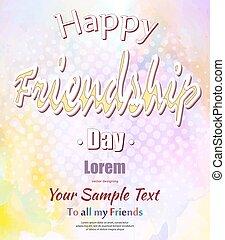 amitié, jour, heureux