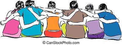 amizade, ilustração