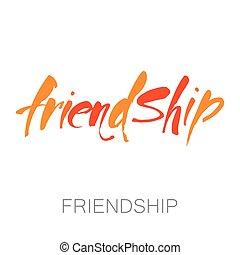 amizade, modelo, lettering