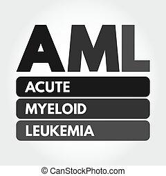 AML - Acute Myeloid Leukemia acronym concept