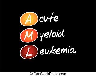 AML - Acute Myeloid Leukemia acronym, health concept background