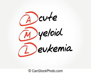 AML - Acute Myeloid Leukemia acronym, medical concept