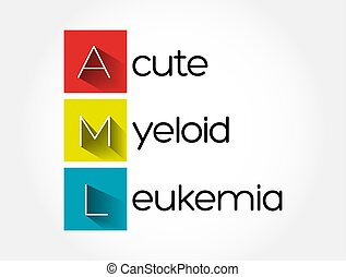 AML - Acute Myeloid Leukemia acronym, medical concept background