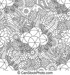 Amla doodle seamless pattern