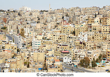 Amman buildings view in the morning