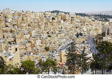 Amman buildings view in the morning in Amman, Jordan