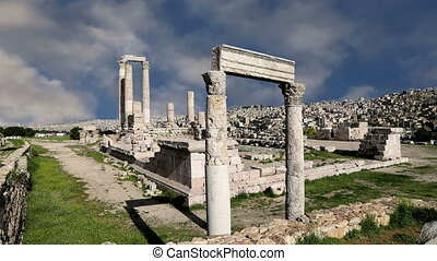 roman Citadel Hill, Amman,Jordan - Amman city landmarks--...