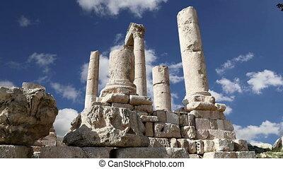 old roman Citadel Hill, Jordan