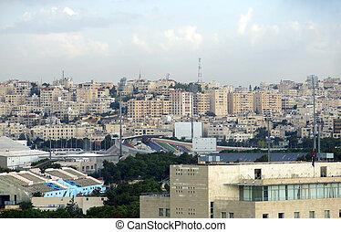 amman, el, capital, de, jordania, y, el, casas, y, estadio