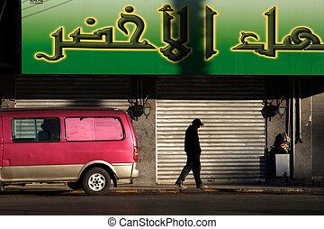 amman, jordania, el, downtown.