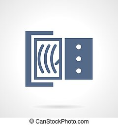 Ammeter glyph style vector icon - Ammeter with dial gauge....