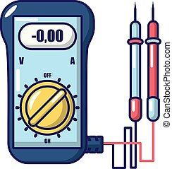 Ammeter icon. Cartoon illustration of ammeter vector icon for web.