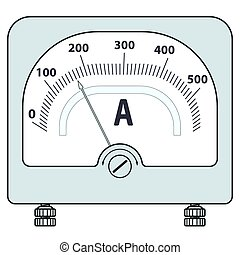 Illustration of the ammeter icon