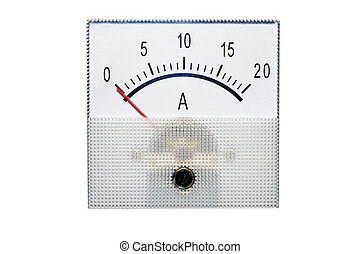 Ammeter isolated on white - Electrical appliance ammeter...