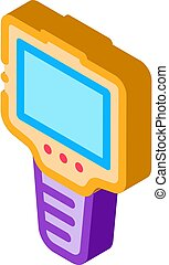 ammeter icon vector. isometric ammeter sign. color isolated symbol illustration