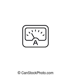 ammeter line icon on white, eps 10 file, easy to edit
