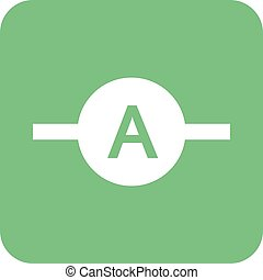 Ammeter, meter, electrician icon vector image. Can also be used for electric circuits. Suitable for use on web apps, mobile apps and print media.