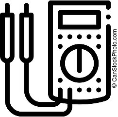 ammeter tool icon vector. ammeter tool sign. isolated contour symbol illustration