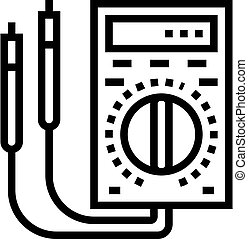 ammeter tool line icon vector. ammeter tool sign. isolated contour symbol black illustration