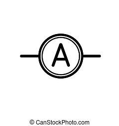 Ammeter vector flat icon element new design.