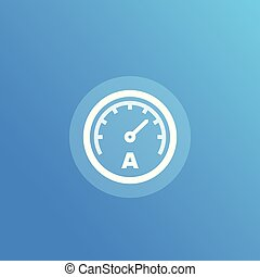 ammeter vector icon, eps 10 file, easy to edit