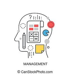 amministrazione, concept., vettore, illustrazione