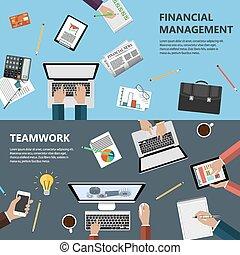 amministrazione, concetto finanziario, lavoro squadra