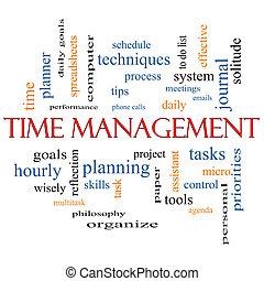 amministrazione, concetto, parola, nuvola, tempo