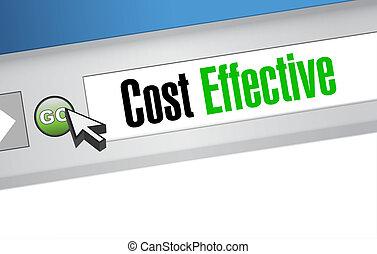 amministrazione, costo, efficace, segno, concetto, linea