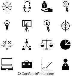 amministrazione, icona, set
