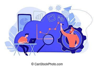 amministrazione, nuvola, illustration., concetto, vettore
