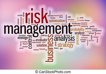 amministrazione, parola, rischio, astratto, fondo, nuvola