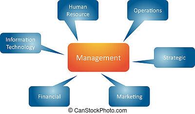 amministrazione, rami, affari, diagramma