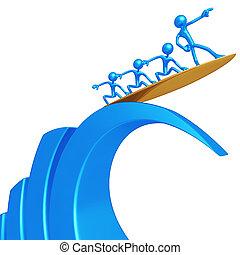 amministrazione, rischio, surfing