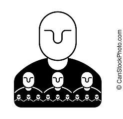 amministrazione, segno, affari, personale, ditta,  subordinates, capo, concetto, struttura, icona, Simbolo, amministrazione