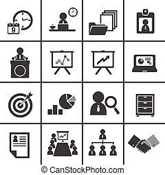 amministrazione, set, 228-2organization, affari, icona