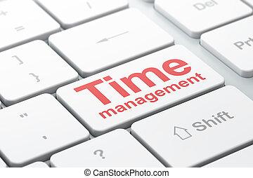 amministrazione, timeline, computer tastiera, fondo, tempo, concept: