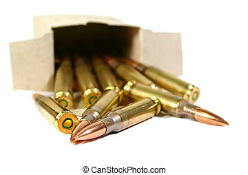 Ammo - Bullets spilling from a box