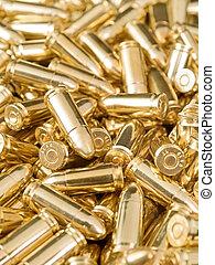 Ammo - Heap of golden pistol bullets