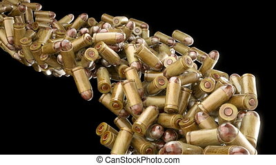 Ammo, weapon: bullets flow slowmo - Ammo and weapon: bullets...