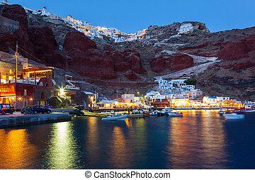ammoudi, santorini, oia, bahía