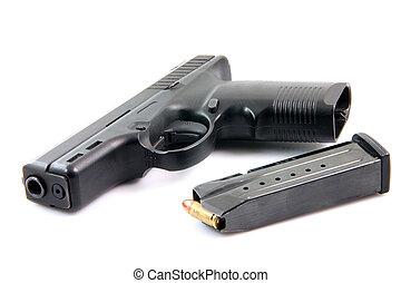 ammunition and gun - ammunition and automatic handgun...