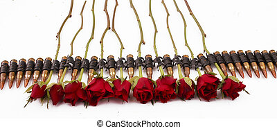 ammunition belt - A ammunition belt with roses