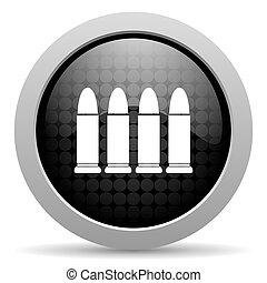 ammunition black circle web glossy icon