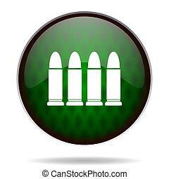 ammunition green internet icon